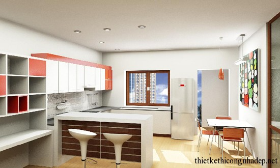 mẫu thiết kế phòng bếp số 7