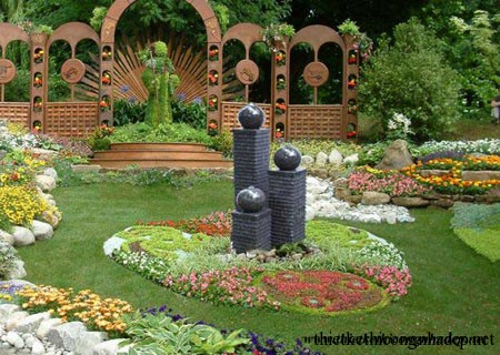 Thiết kế thi công tiểu cảnh sân vườn đẹp