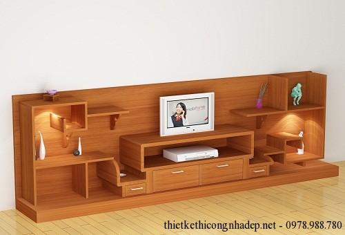 Kệ tivi bằng gỗ tự nhiên đẹp