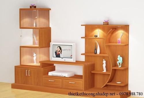 Kệ tivi bằng gỗ xoan đào