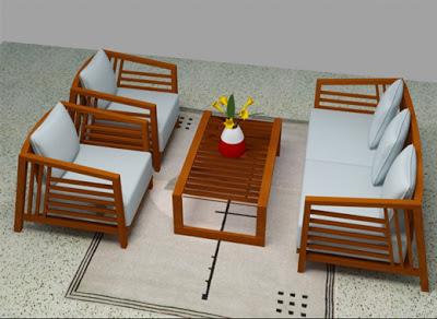 mẫu bàn ghế sofa gỗ số 4