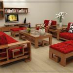 Mẫu bàn ghế sofa đồ gỗ phòng khách đẹp