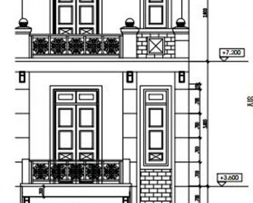 Bản vẽ thiết kế nhà ống 3 tầng 5x18 mét đẹp