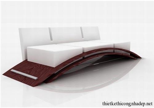 Bộ sofa gia đình được thiết kế cách điệu