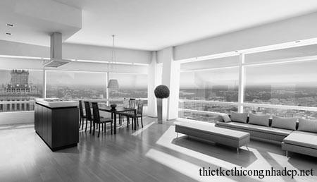 Thiết kế nội thất căn hộ chung cư cao cấp