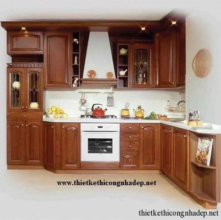 mẫu tủ bếp hiện đại số 10