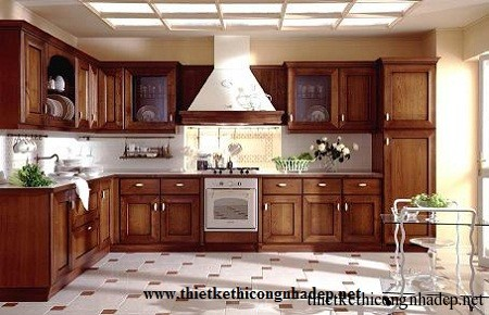 mẫu tủ bếp hiện đại số 11