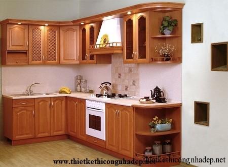 mẫu tủ bếp hiện đại số 3