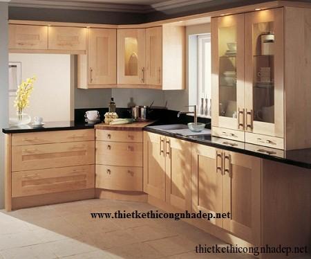 mẫu tủ bếp hiện đại số 4