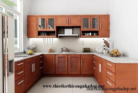 mẫu tủ bếp hiện đại số 5