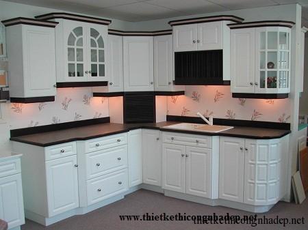 mẫu tủ bếp hiện đại số 6