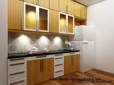 mẫu tủ bếp hiện đại số 8
