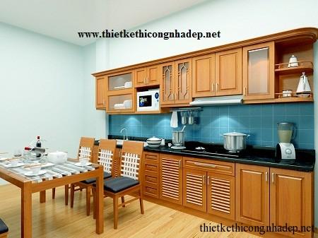 mẫu tủ bếp hiện đại số 9