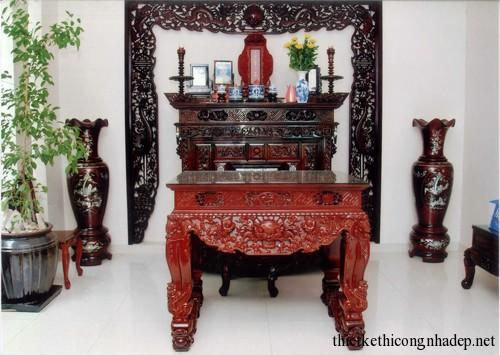 mẫu phòng thờ, bàn thờ gia đình số 1