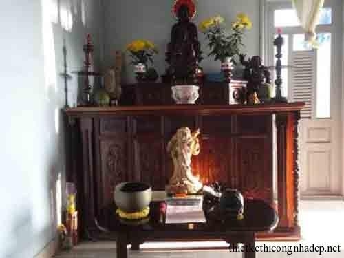 mẫu phòng thờ, bàn thờ gia đình số 10