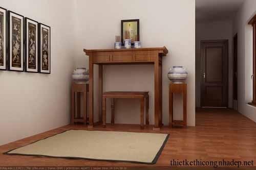 mẫu phòng thờ, bàn thờ gia đình số 11
