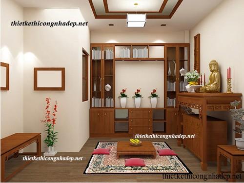 mẫu phòng thờ, bàn thờ gia đình số 6