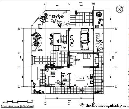 Bản vẽ chi tiết biệt thự vườn An Phú hiện đại