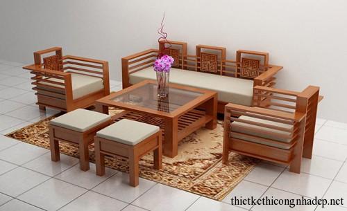 Sản xuất bàn ghế sofa gỗ đẹp