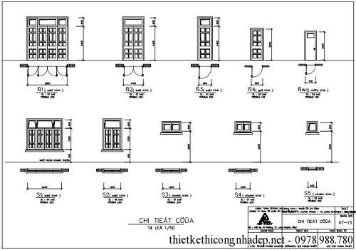 Bản vẽ kiến trúc của nhà 1 tầng đẹp
