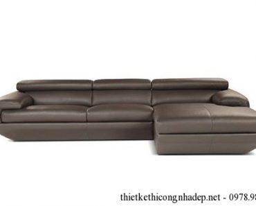 Bàn ghế sofa da phòng khách được làm bằng giả da Cleo