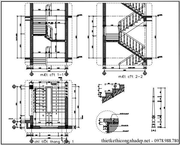 Bản vẽ chi tiết cầu thang 3