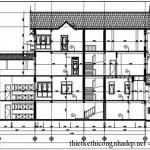 Bản vẽ chi tiết nhà ống 4 tầng diện tích 9,08 x 21,25 mét