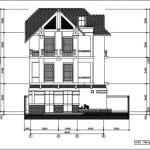 Bản vẽ chi tiết thi công biệt thự 3 tầng diện tích 8.5 x 9.4 mét