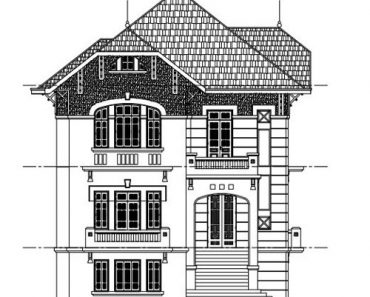 Bản vẽ thiết kế kiến trúc biệt thự