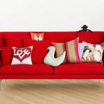 Ghế sofa đơn màu đỏ 1