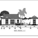 Bản vẽ chi tiết thiết kế kiến trúc nhà cấp 4 đẹp