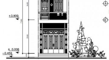 Bản vẽ thiết kế mặt bằng nhà phố hình thang 2 tầng