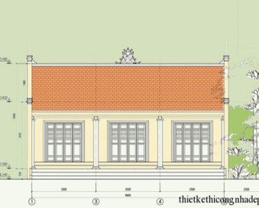 Bản vẽ thiết kế kiến trúc nhà thờ tổ