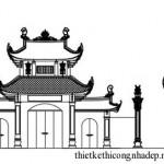 Bản vẽ thiết kế thi công nhà thờ họ tại Đông Anh