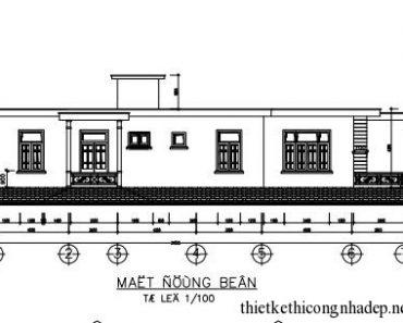 Thiết kế kiến trúc nhà cấp 4 mái bằng