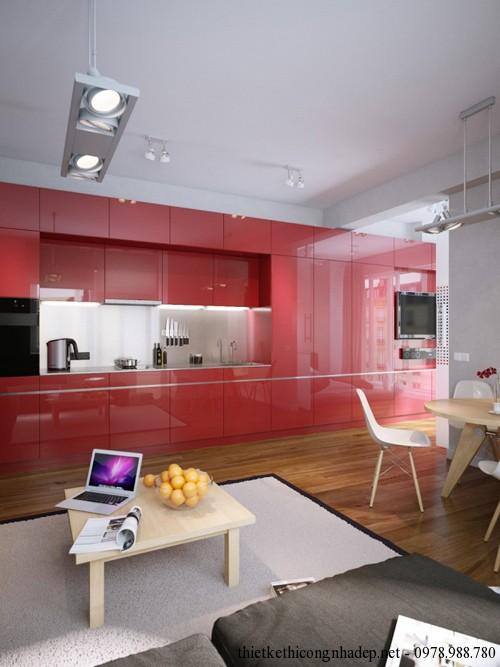 Kết hợp hài hòa giữa phòng khách, phòng bếp và phòng ăn