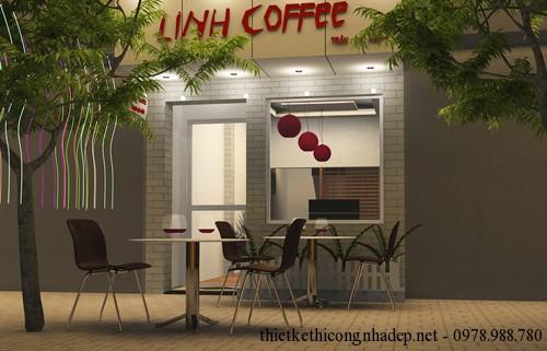 Thiết kế phối cảnh quán cafe 25 Trần Đại Nghĩa