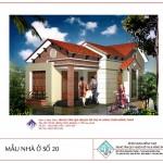 Bản vẽ kiến trúc và mặt bằng nhà cấp 4 nông thôn