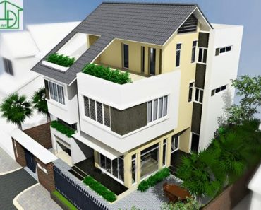 Thiết kế kiến trúc và nội thất biệt thự 3 tầng