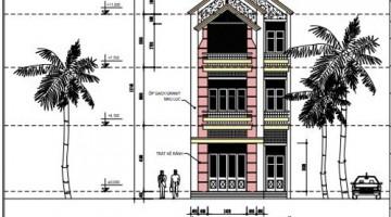 Thiết kế nhà phố 3 tầng hiện đại diện tích 6.17 x 17.52 mét
