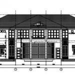 Bản vẽ thiết kế biệt thự vườn 2 tầng bán đảo Hồ Tây
