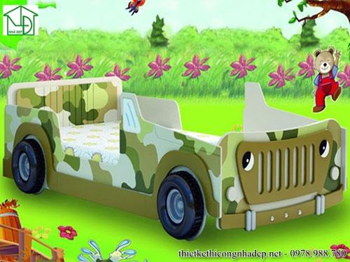 Giường ngủ ô tô phong cách quân đội