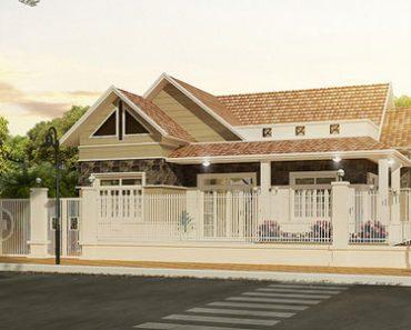 Mẫu thiết kế biệt thự nhà vườn ở nông thôn diện tích 11 x 12