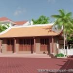 Mẫu thiết kế nhà thờ họ Lê tại Đông Hưng Thái Bình