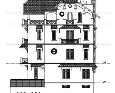 Thiết kế biệt thự 4 tầng cổ điển phong cách Châu Âu