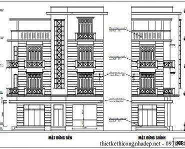 Bản vẽ cải tạo nhà phố 4 tầng thành cửa hàng kinh doanh