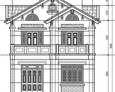 Bản vẽ thiết kế biệt thự 2 tầng tại Hưng Yên