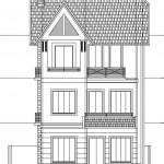 Bản vẽ thiết kế biệt thự 3 tầng 65 m2 hiện đại