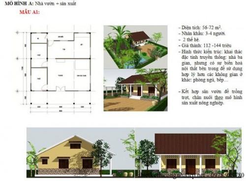 Mô hình nhà vườn và sản xuất