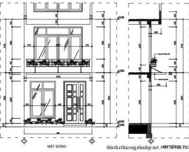 Mẫu nhà có diện tích nhỏ đẹp mặt tiền 4 mét